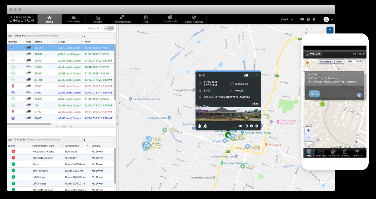 GPS Fleet Management Solution - Teletrac Navman